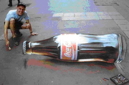 Julian Beever 1 (Coke bottle).JPG